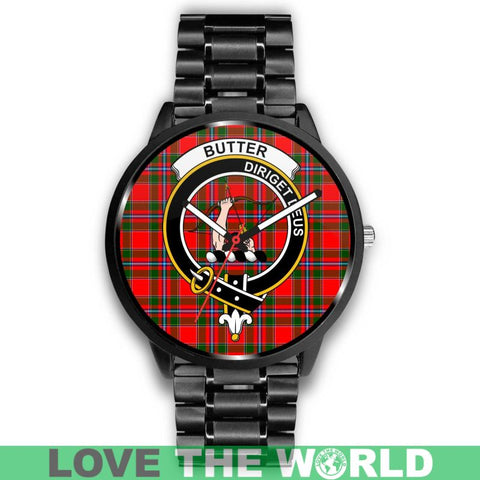 Butter Clan Badge Tartan Leather/Steel Watch - Bn |Men and Women| 1sttheworld