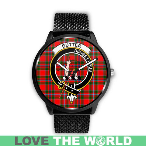 Image of Butter Clan Badge Tartan Leather/Steel Watch - Bn |Men and Women| 1sttheworld