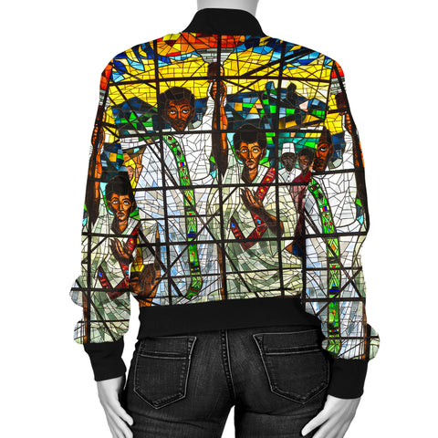 Image of Ethiopia Bomber Jacket, Ethiopian Orthodox Women A10