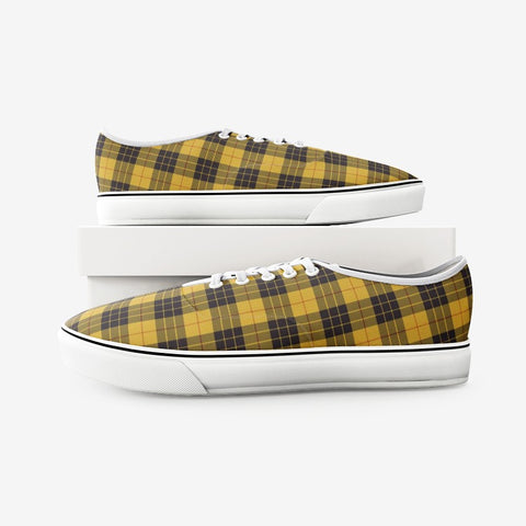 Image of Macleod Of Lewis Ancient Tartan Unisex Canvas Shoes Fashion Low Cut Loafer Sneakers K5