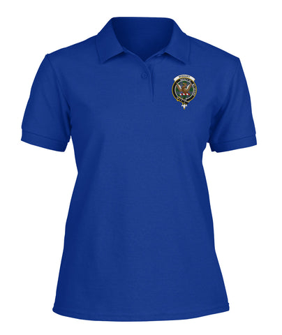 Image of Wishart Badge Women Tartan Polo Shirt | Over 300 Clans Tartan | Special Custom Design | Love Scotland