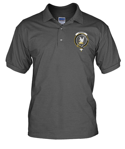 Lindsay Tartan Polo Shirt In Me Clan Badge K7