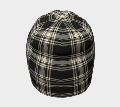 Image of Menzies Black & White Ancient Tartan Clan Crest Beanie Hj4