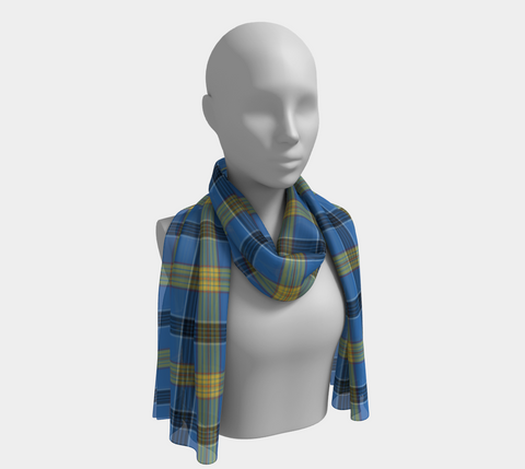 Tartan Long Scarf - Laing - Bn04 |Women's Clothing| 1sttheworld