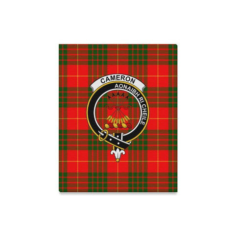 Tartan Canvas Print - Cameron Clan | Over 300 Scottish Clans and 500 Tartans