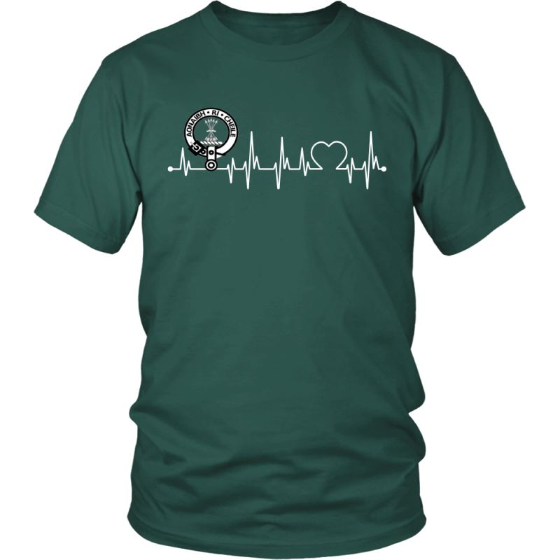 Cameron In My Heartbeat N9 District Unisex Shirt / Dark Green S T-Shirts