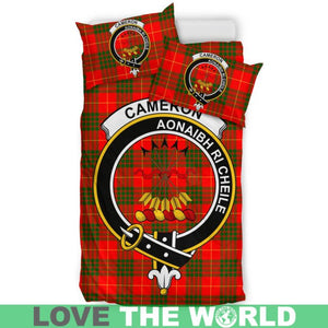 Cameron Modern Clan Badge Tartan Bedding Set K5
