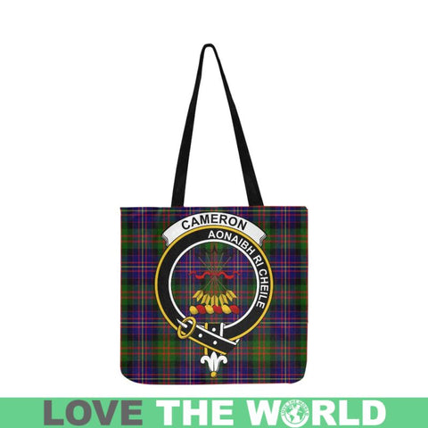 Image of Cameron Of Erracht Modern Clan Badge Tartan Reusable Shopping Bag - Hb1 Bags