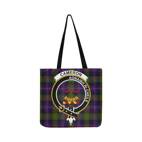 Cameron Of Erracht Modern Clan Badge Tartan Reusable Shopping Bag - Hb1 Bags