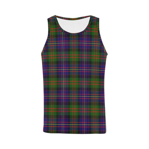 Cameron Of Erracht Modern Tartan All Over Print Tank Top Nl25 Xs / Men Tops