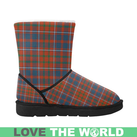Cameron Of Lochiel Ancient Tartan Unisex Single Button Button Snow Boots S2