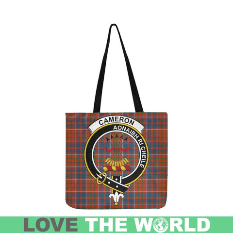 Cameron Of Lochiel Modern Clan Badge Tartan Reusable Shopping Bag - Hb1 Bags