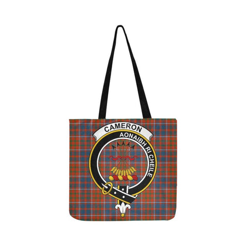 Image of Cameron Of Lochiel Modern Clan Badge Tartan Reusable Shopping Bag - Hb1 Bags