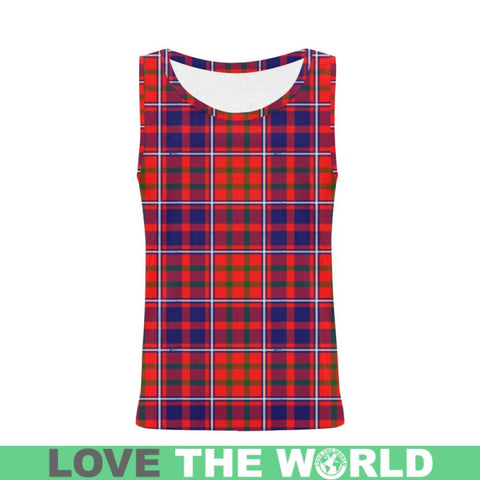 Cameron Of Lochiel Modern Tartan All Over Print Tank Top Nl25 Xs / Men Tops