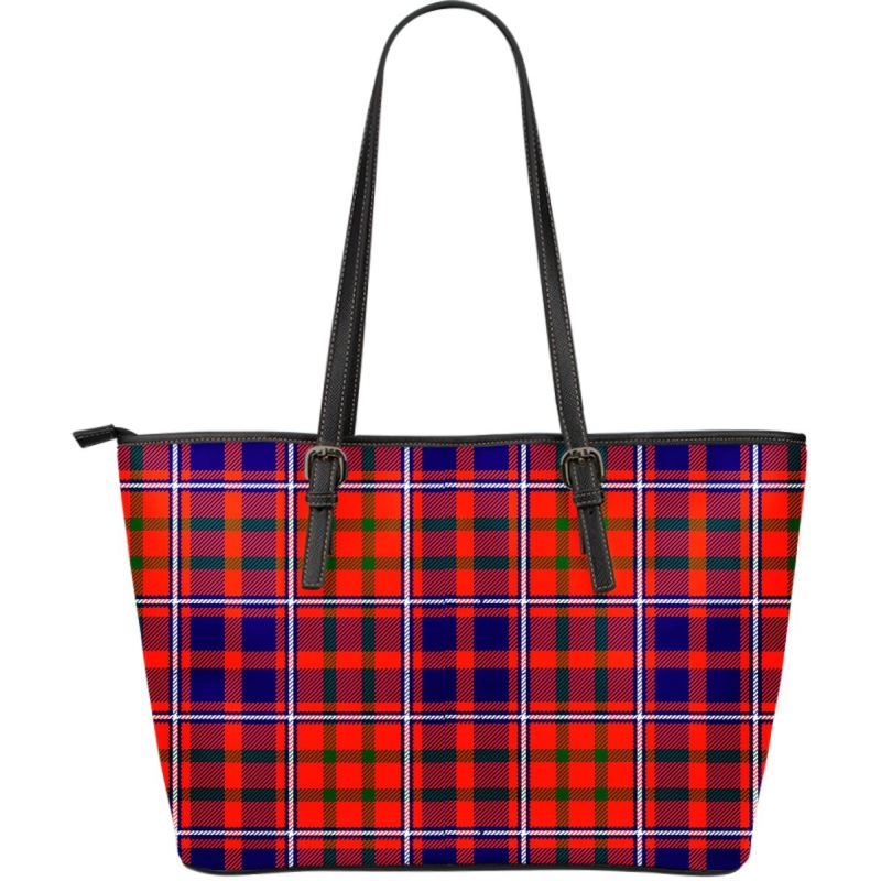 Cameron Of Lochiel Modern Tartan Handbag - Large Leather Tartan Bag