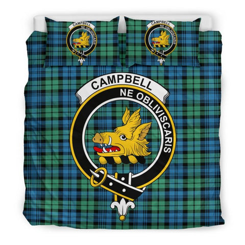 Campbell Ancient 01 Clan Badge Tartan Bedding Set C19 Bedding Set - Beige / King Sets