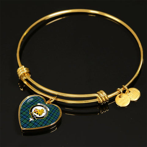 Image of Campbell Ancient 02 Tartan Golden Bangle - Tm Adjustable Bangle Jewelries