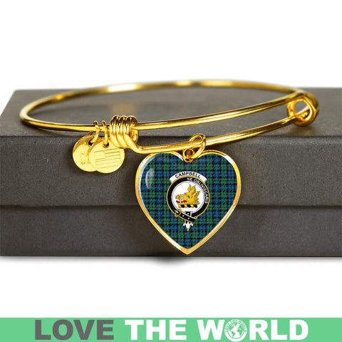 Campbell Ancient 02 Tartan Golden Bangle - Tm Adjustable Bangle Jewelries