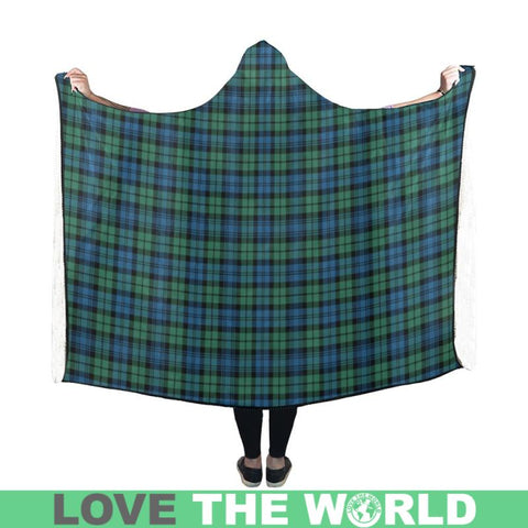 Campbell Ancient 02 Tartan Hooded Blanket - Tn One Size / 50X40 Blankets