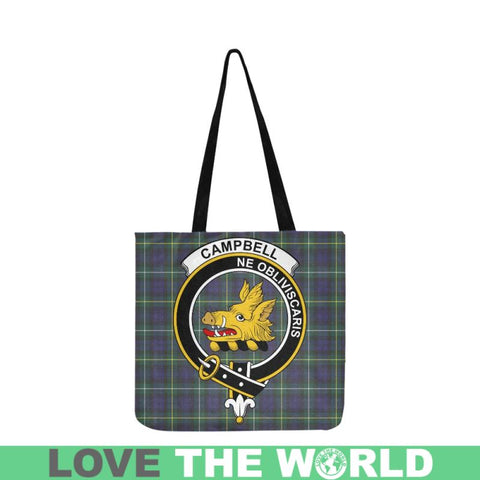 Image of Campbell Argyll Modern Clan Badge Tartan Reusable Shopping Bag - Hb1 Bags