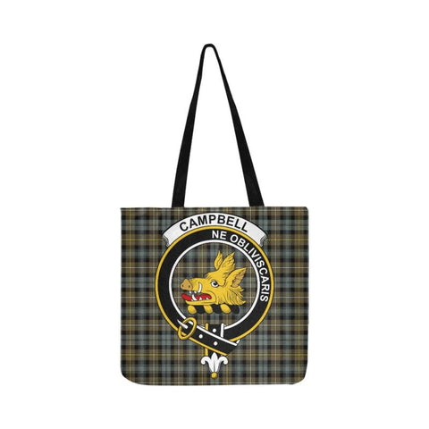 Campbell Argyll Weathered Clan Badge Tartan Reusable Shopping Bag - Hb1 Bags