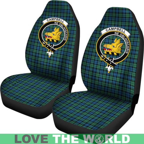 Image of Campbell Clan Badges Tartan Car Seat Cover Ha5