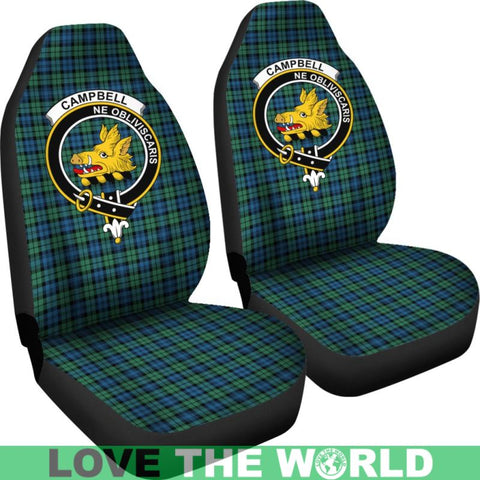 Campbell Clan Badges Tartan Car Seat Cover Ha5