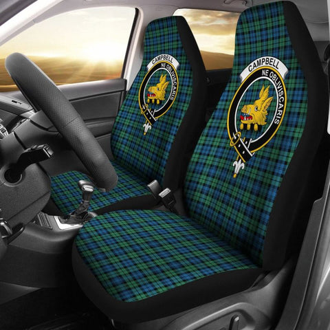 Campbell Tartan Car Seat Cover - Clan Badge