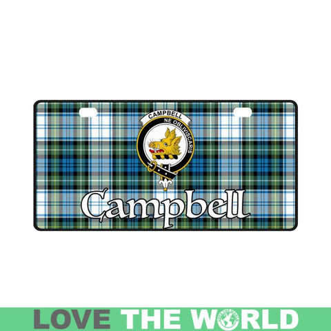 Campbell Dress Ancient 02 Tartan License Plates - Bn |Car Accessories| 1sttheworld