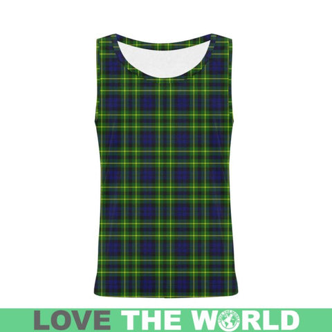 Image of Campbell Of Breadalbane Tartan All Over Print Tank Top Nl25 Xs / Men Tops