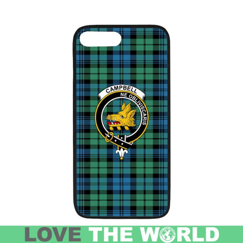 Image of Campbell Tartan Clan Badge Rubber Phone Case Hj4 One Size / Rubber Case For Iphone 6/6S Plus Cases