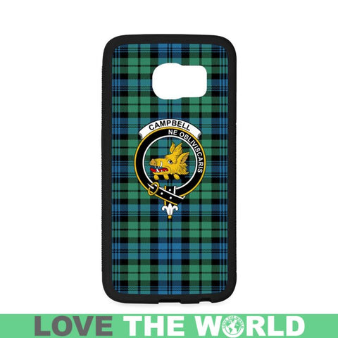 Campbell Tartan Clan Badge Rubber Phone Case Hj4 One Size / Rubber Case For Iphone 6/6S Plus Cases