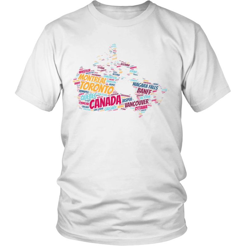 Canada - City In Map A9 District Unisex Shirt / White S T-Shirts