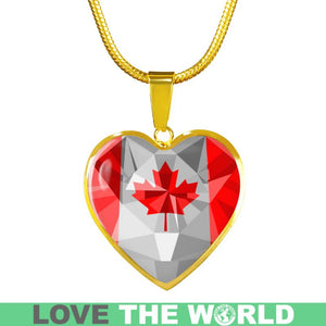 Canada Crystal Flag Heart-Shaped Jewelries K7
