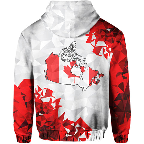 Canada Day Hoodie - The True North Strong and Free back