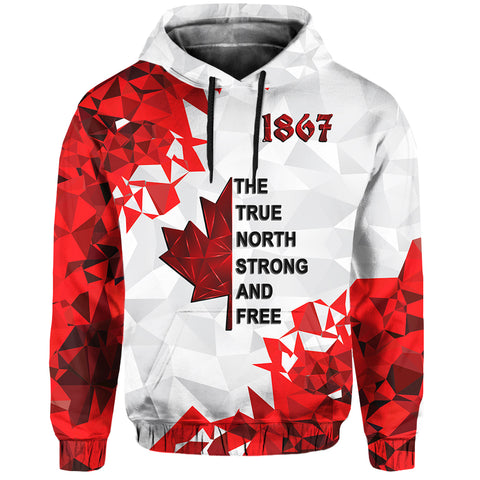 Image of Canada Day Hoodie - The True North Strong and Free front