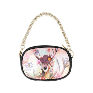 Canada Deer Blossom One Side Chain Purse F1 Purses
