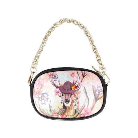 Image of Canada Deer Blossom One Side Chain Purse F1 Purses