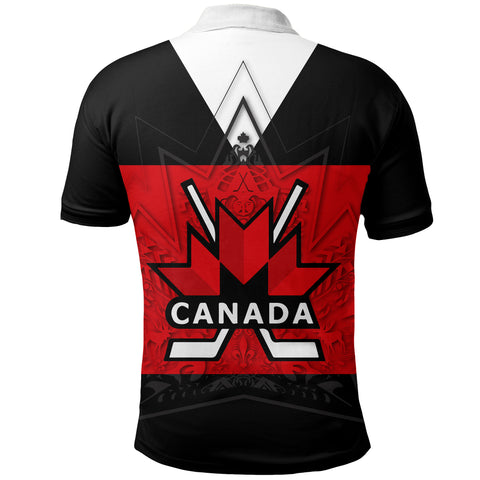 Image of Canada Hockey Polo Shirt - Maple Leaf Red | Canada Hockey Jersey | Clothing