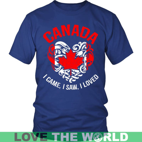 Image of Canada I Came Saw Loved A9 Gildan Womens T-Shirt / Black S T-Shirts