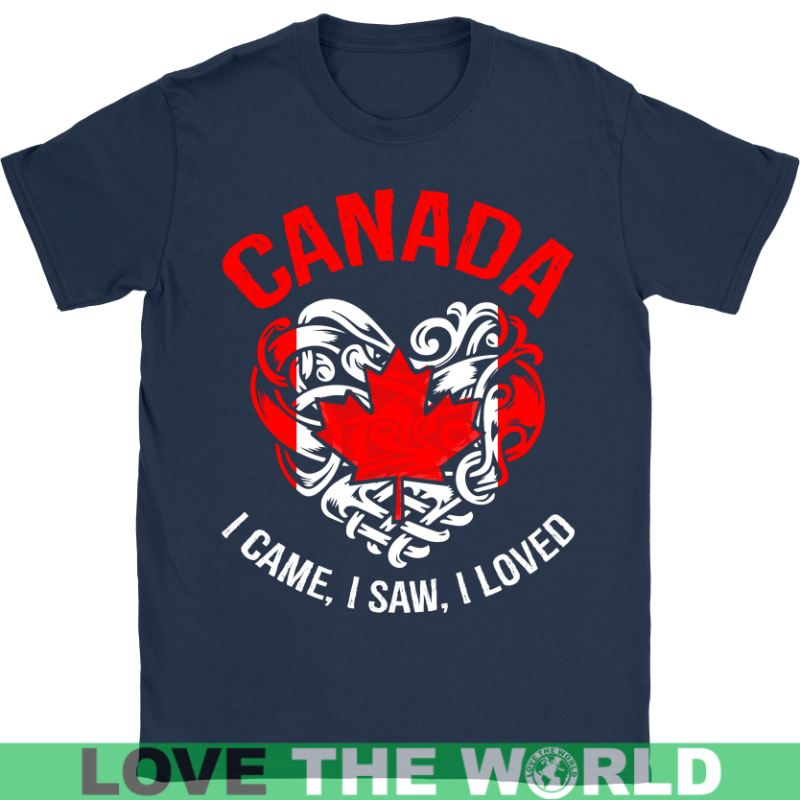 Canada I Came Saw Loved A9 Gildan Womens T-Shirt / Black S T-Shirts