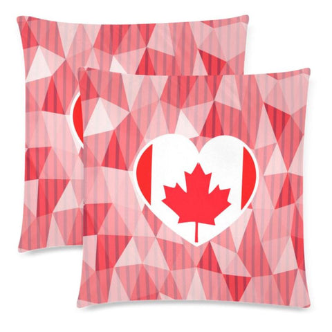 Image of Canada In My Heart Zippered Pillow X1 One Size / 18X 18 (Twin Sides) (Set Of 2) Pillows