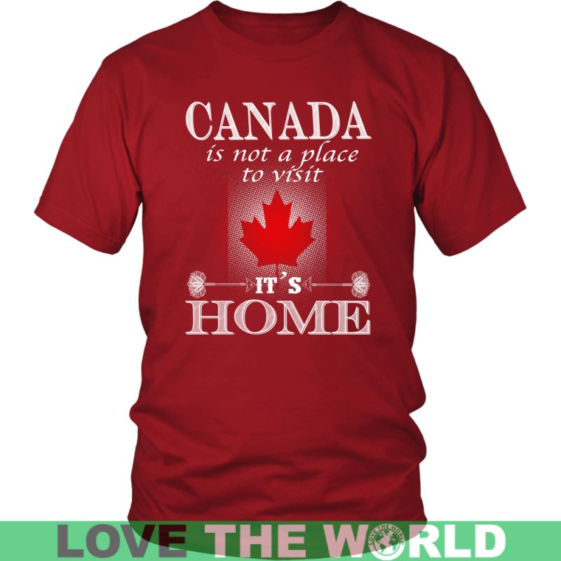 Canada Is My Home T-Shirt J1 District Unisex Shirt / Royal Blue S T-Shirts