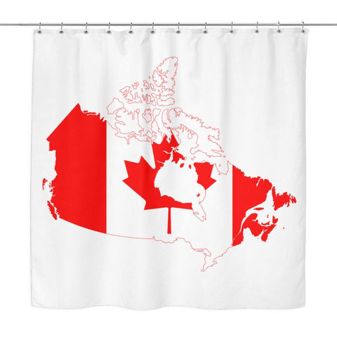 Canada Map Shower Curtain X1 W Curtains