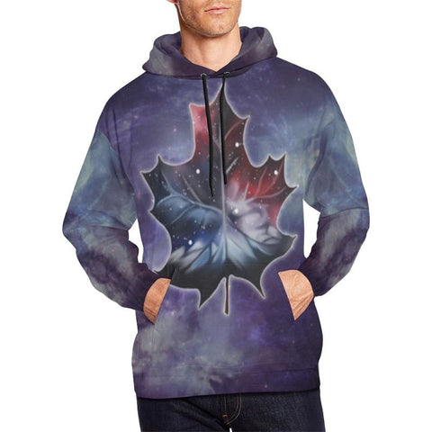Canada Maple Leaf All Over Print Hoodie D5 Xxxl / All Over Print Hoodie For Men/large Size (Usa