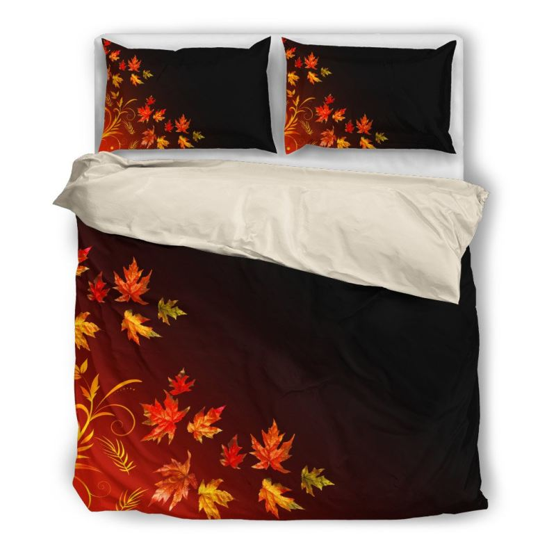 Canada Maple Leaf Bedding Set H4 Bedding Set - Beige / Twin Sets