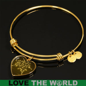 CANADA MAPLE LEAF GOLDEN HEART JEWELRY HA8