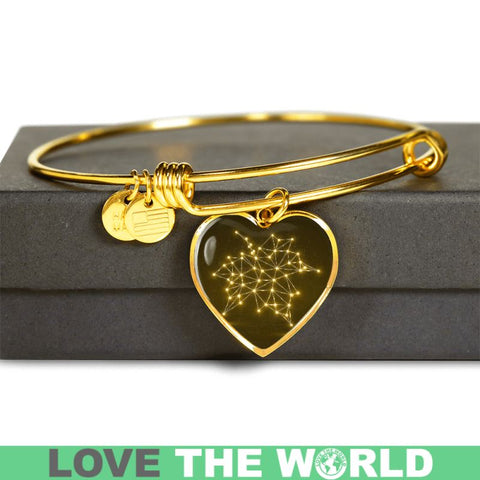 Canada Maple Leaf Golden Heart Jewelry Ha8 Luxury Necklace (Gold) Jewelries