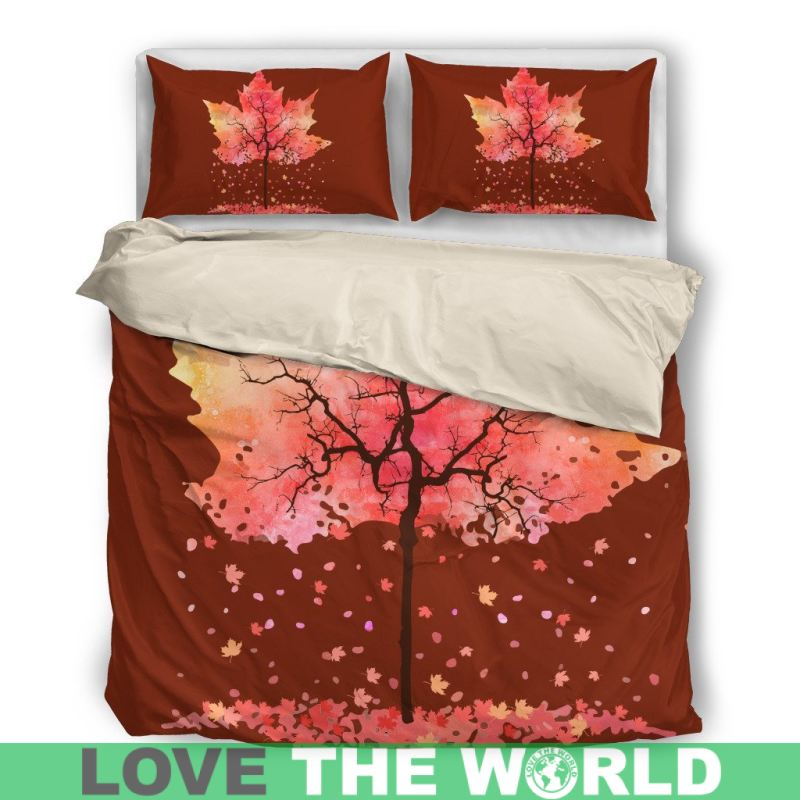 Canada Maple Leafs Bedding Sets 7 Bedding Set - Black / Twin