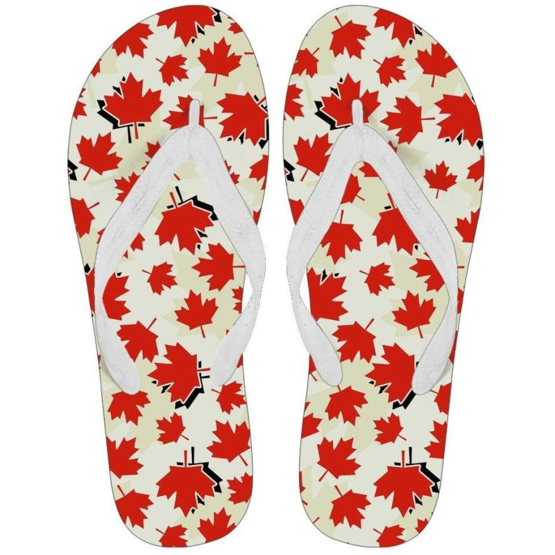aa0921941 Canada ( Mens   Womens) Flip Flops Womens - White Small (Us 5-